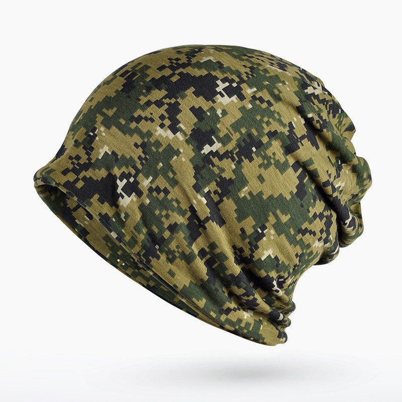 Turban Hat Camouflage Beanie Stocking Hats For Women Men Baggy Cap Hip Hop Hat Female Skullies Beanies Scarf Mask Bonnet