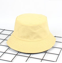 Load image into Gallery viewer, Two Side Reversible solid khaki Bucket Hat Unisex Fashion Bob Caps Hip Hop Gorros Men Summer Caps Beach Sun Fishing Bucket Hat