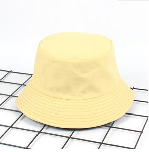 Two Side Reversible solid khaki Bucket Hat Unisex Fashion Bob Caps Hip Hop Gorros Men Summer Caps Beach Sun Fishing Bucket Hat
