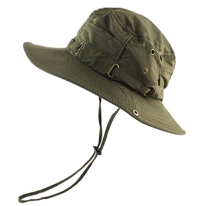 UPF 50+ Beach Cap Bucket Hat Men Women Boonie Hat Summer UV Protection Military Army Hiking Tactical Outdoor Sun Hat Fishing