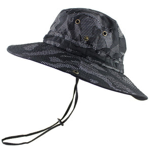e8962ab7ac7 UPF 50+ Bucket Hat Men Women Outdoor Boonie Hat Summer Sun UV Protection  Camouflage Cap Military Army Fishing Tactical Wide Brim