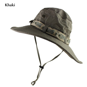 0ca41a7aaf1f2 UPF 50+ Bucket Hat Summer Men Women Boonie Hat Outdoor UV Protection Wide  Brim Military