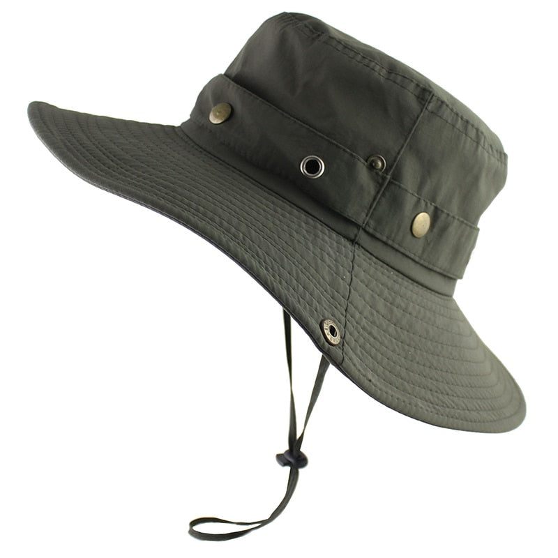 UPF 50+ Bucket Hat Summer Men Women Outdoor Boonie Hats Sun UV ... e97174924e1