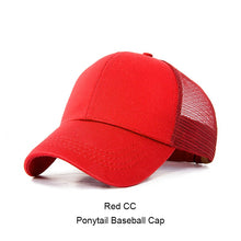 Load image into Gallery viewer, 2018 Ponytail Baseball Cap Women Messy Bun Snapback Summer Mesh Hats Casual Sport Caps Drop Shipping Adjustable