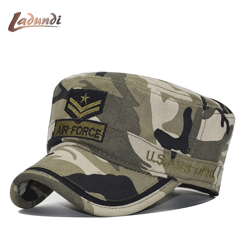 0eb7c86fc91713 US Military Hat Tactical Wing Air Force Low Profile Hat Caps Men cot flat  top cap camouflage camo hats embroidered airforce