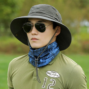 UV Protection Sun Hat Fishing Cap Men s And Women s Summer Fishing Hiking Hat  Wide-Brimmed 1029489f78b