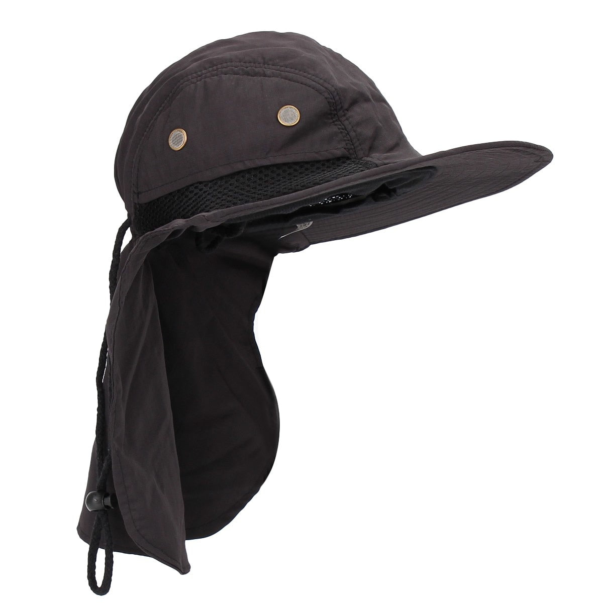 0d65dc132fa2e Uinsex UV Protection Face Neck Cover Bucket Hat Women Men Fishing ...