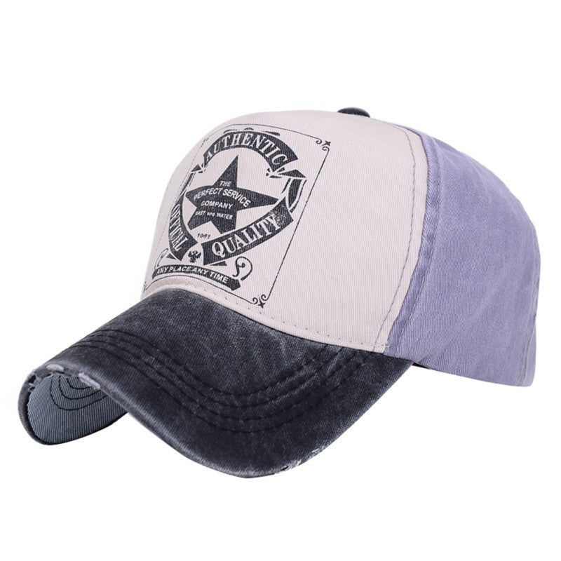 Unisex Adjustable Letter Print Travel Polo Hats Baseball Ball Cap Hat
