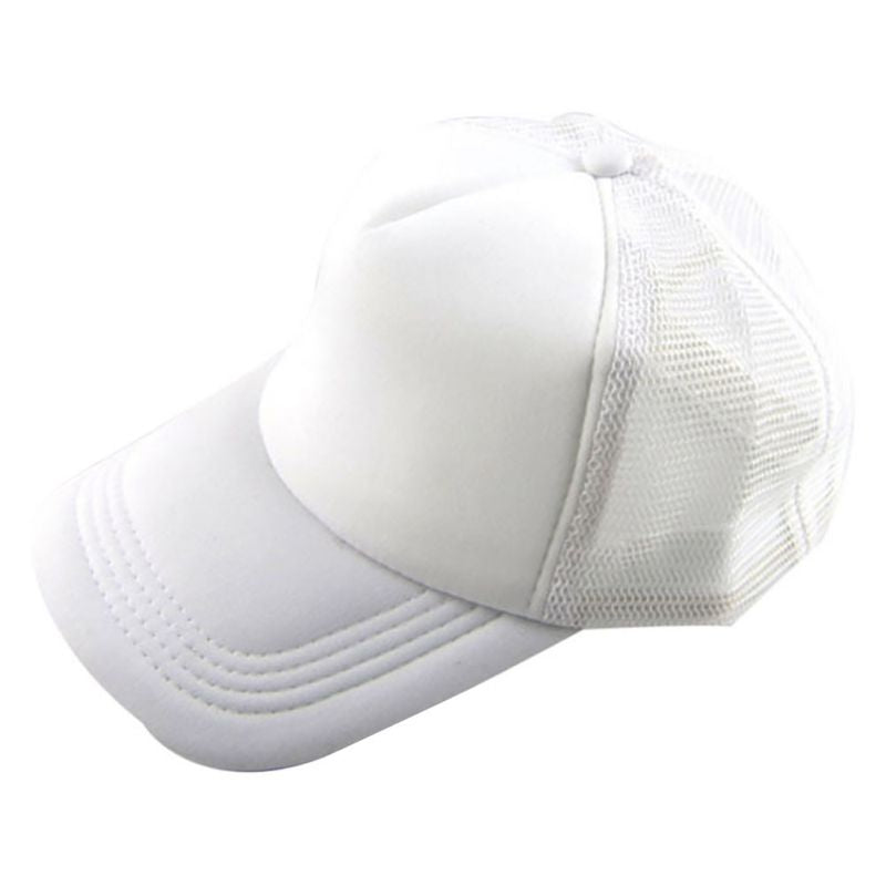 Unisex Attractive Adjustable Casual Unisex Summer Hat Solid Baseball Cap Trucker Mesh Blank Visor Hats
