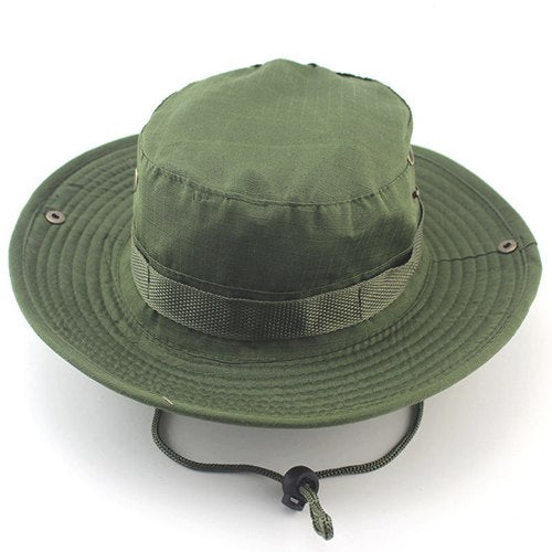 Unisex Casual Camouflage Bucket Hat With String Summer Men Women ... 102a53fe2a0
