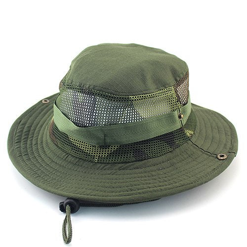 Unisex Casual Camouflage Bucket Hat With String Summer Men Women ... f0f02a4ef8e