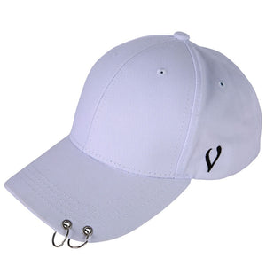 Unisex Casual Solid Adjustable Baseball Caps Snapback hats for men baseball cap women men white baseball cap hat with Rings 896