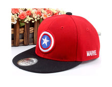 Load image into Gallery viewer, Unisex Child Baseball Cap Captain America Adjustable Snapback Baseball Hat Hip hop cap Ball kid golf ball chapeau 1-4T MZ3724