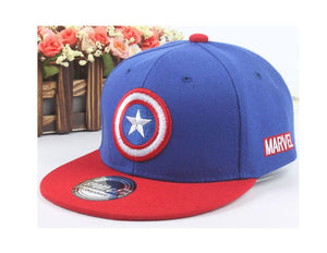 Unisex Child Baseball Cap Captain America Adjustable Snapback Baseball Hat Hip hop cap Ball kid golf ball chapeau 1-4T MZ3724