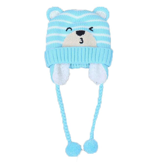 Men's Scarf Sets Unisex Child Beanies Cap Set Baby Kids Cartoon Design Stripe Knit Add Velvet Hat And Scarf Winter Warm Suit Set