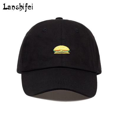 Unisex Fashion Dad Hat Hamburg/watermelon Embroidery Baseball Cap Black White Good Quality Snapback Hats Brand Caps Wholesale