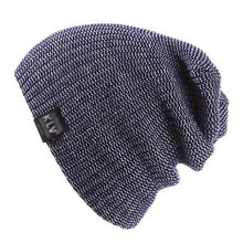 Load image into Gallery viewer, Unisex Men Women Knitted Winter Hat Soft Warm Striped Ski Hats Bonnet Femme Slouch Oversized Beanie Caps 2016 Fashion Gorros