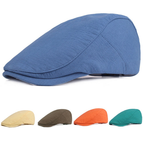 Unisex Men Women Solid Plain Golf Driving Cap Causal Newsboy Cabbie Berets Hat  HATCS0301