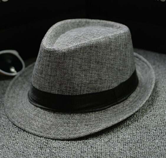 f708fa52ed2544 ... Load image into Gallery viewer, Unisex Straw Fedoras Sun Hat Panama  Trilby Crushable Mens Ladies ...