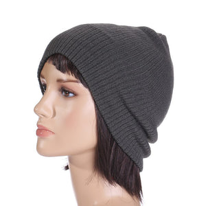 Unisex Trendy Warm Chunky Soft Stretch Knit Slouchy Beanie Skully Winter Hat 10pcs/lot Free Shipping