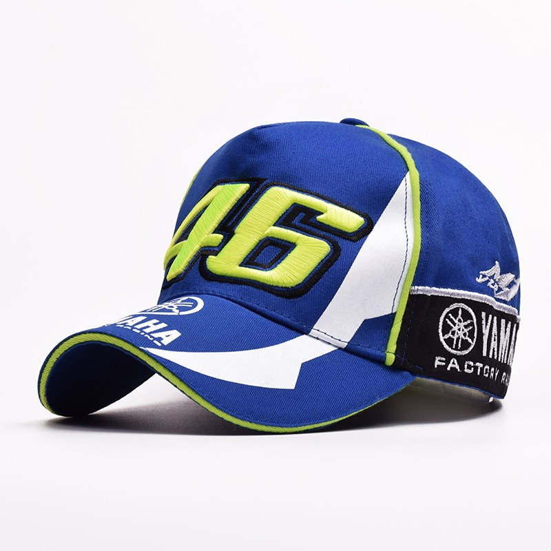 Unisex VR-46 Yamaha Racing Cap Letter Embroidery 46 Race Caps Women Men Knight Riding Locomotive Duck Tongue Baseball Hat CP0048