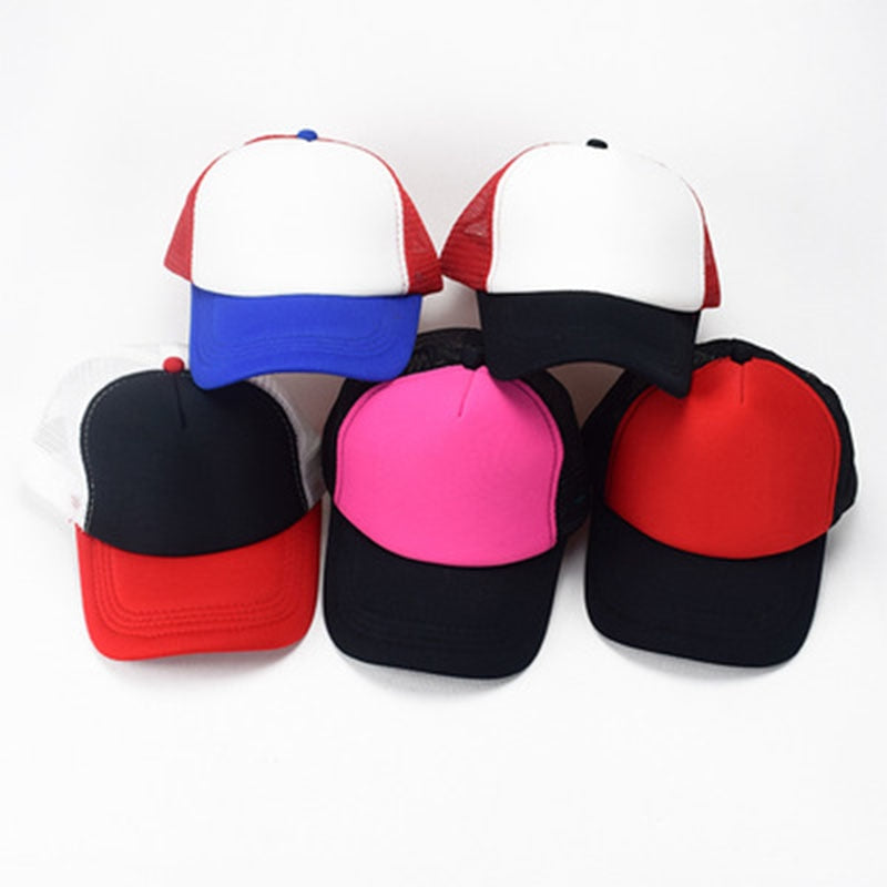 a7b74274ef8 Unisex cosplay stranger things cap hat mesh baseball caps Dustin hats solid  color snapback hats casual caps sports hat wholesale