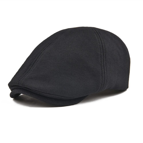 Cot Duckbill Flat Cap Men Black Beret Women Ivy Gatsby Caps Classic 6 Panel Hat Male Female 320