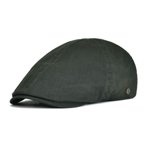 Summer Cot Flat Cap Green Black Ivy Caps Men Women Twill Black Brown Six Panel Breathable Gatsby Beret Hat Boina 137
