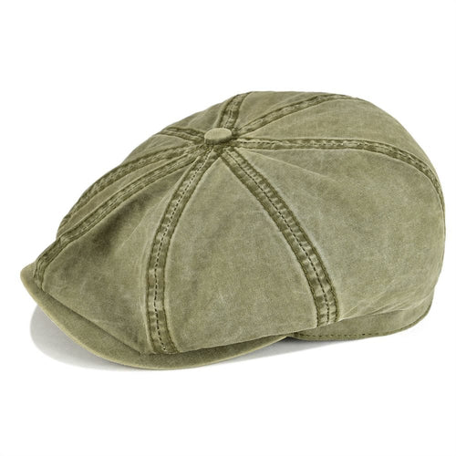 Washed Cot Newsboy Cap Mens Womens Octangle Cap Gatsby Hat for Summer Autu  Female Girl 160 a0754bc173f2