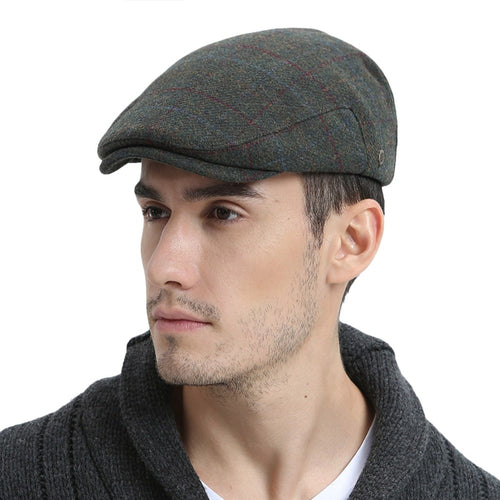 7dbb3acc240 Winter Warm Wo Tweed Blend Cap Men Retro Vintage Male Cabbie Boina Newsboy  Caps Ivy Flat