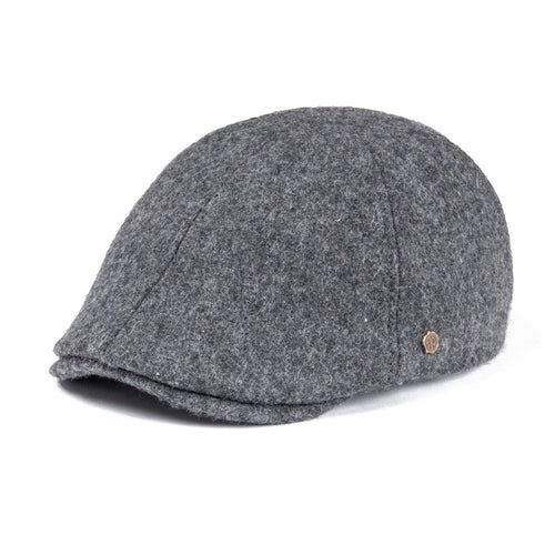 bee308468c5 Woollen Tweed Mens Flat Cap Gray Retro Vintage Newsboy Caps 6 Panel Fall Winter  Warm Cabbie