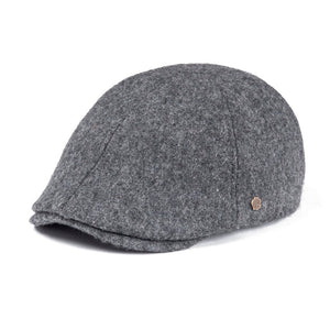 8333877d7f2 Woollen Tweed Mens Flat Cap Gray Retro Vintage Newsboy Caps 6 Panel Fall  Winter Warm Cabbie