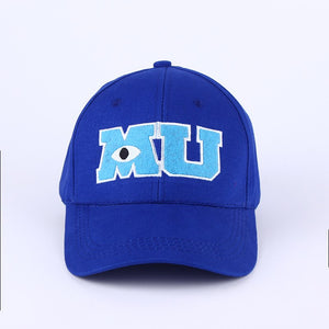 2017 New Brand Pixar Movie Monsters University Sulley Mike MU Letters Baseball  Baseball Caps One Piece Vestidos