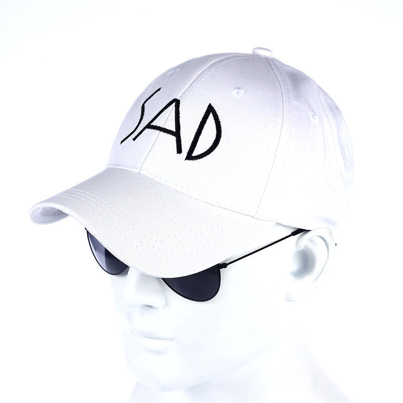 2017 New SAD embroidery dad Hat Adjustable Hip Hop 2 panel Cotton Women Man Baseball cap Good Polo cap Hats7259