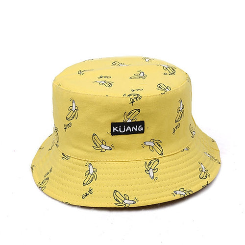 2017 Reversible Bucket Hat Unisex Fashion Bob Caps Hip Hop Gorro Men Summer Caps Beach Sun Banana Bucket Hat Fishing Cap