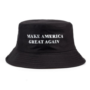 2017 new design MAKE AMERICA GREAT AGAIN printing bucket cap women men casual caps for travel unisex sports hats