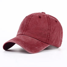 Load image into Gallery viewer, Plain dyed sand washed 100% soft cot cap blank baseball caps dad hat no embroidery mens cap hat for men and women