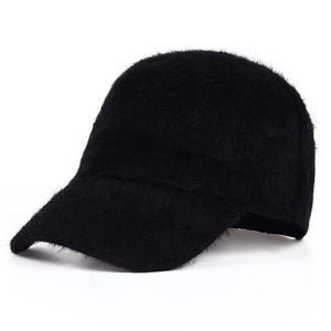 new fashion winter hat candy solid color rabbit fur baseball cap Women's Autumn and Winter cap