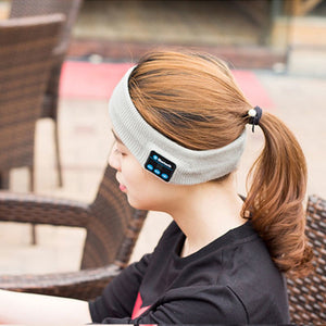 Knitting Music Headband Headset w/ Mic Wireless Bluetooth Earphone Headphone For Running Yoga Gym Sleep Sports Earpiece