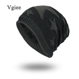 69d21237293 Winter Hats For Men Skullies Beanies Star Pattern Turban Hat Female Hats  For Women Stocking Hat