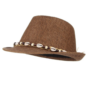 Vintage Boho Men Sun Hat Shells Beads Decorative Straw Hats Male Beach  Summer Sun Caps Jazz dceca4f1d47