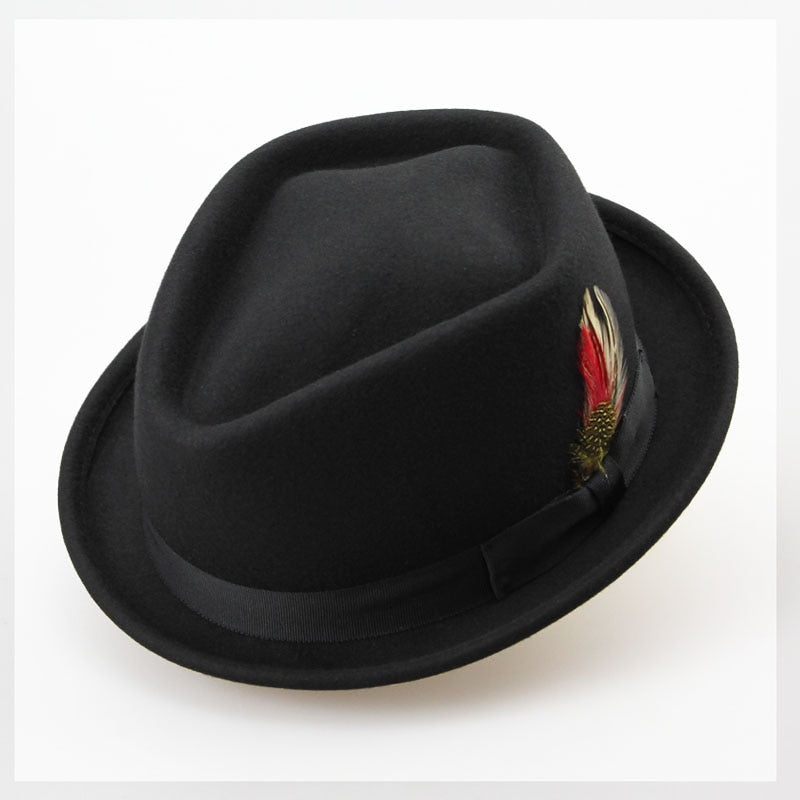 Vintage Pure Wo Felt Men Winter Hat 60CM Big Small Size Floppy Feather Jazz Hat Fashion Flat Strip Bow Male Hat Sombrero Cap