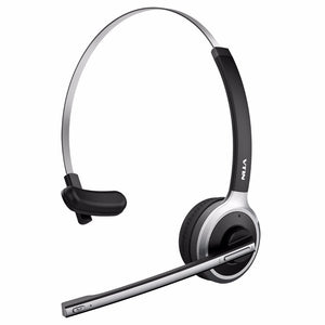 Professional Over-the-Head Bluetooth Wireless Headset Lightweig Handsfree with Built in Mic for Drivers Meeting