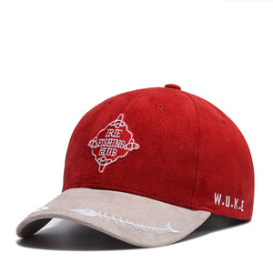 Summer Baseball Cap Women Men's Fashion Brand Street Hip Hop Adjustable Caps Suede Hats for Men Red Snapback Caps