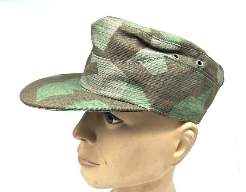 WW2 WWII GERMAN ARMY ELITE SUMMER SPLINTER CAMOUFLAGE CAMO FIELD CAP MILITARY HAT IN SIZES - World military Store