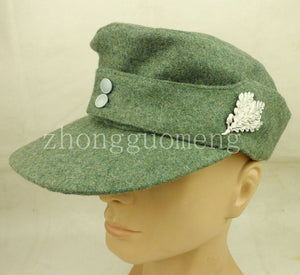 8b196e551af WWII GERMAN WH EM M43 PANZER WO FIELD SOLDIER HAT WITH BADGE CAP - World  military Store