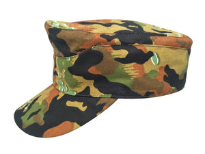 WWII WW2 GERMAN ARMY LEIBERMUSTER CAMO FIELD HAT MILITARY CAMOUFLAGE CAP IN SIZE - World military Store