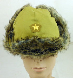 WWII WW2 JAPANESE MILITARY ARMY SOLDIER OFFICER CAP HAT ANTI COLD WINTER CAP IN SIZES - World military Store