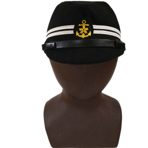 c7f56766779 WWII WW2 JAPANESE OFFICER NAVY HAT MILITARY FIELD CAP BLACK COLOR IN SIZES  - World military Store