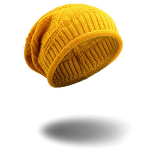 Warm Women Winter Caps Soft Wo Knitted Hat Oversized Slouchy Beanie Hat Men Fashion Solid Crochet Skullie Beanies Cap 12 color